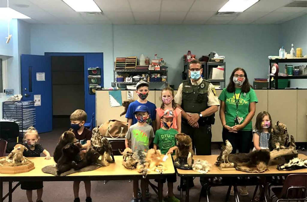 Game Warden Kapral visits I'm Big Now Learning Center